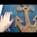 Do-it-yourself Wooden Nautical Anchor Craft