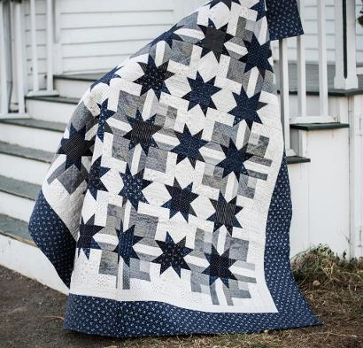 Moda Late Night Stars Quilt Kit Learn Your Way To Awesome