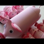 Recycled Art Ideas for Kids: Pig's Family from Plastic Bottles