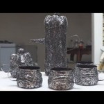 Recycled Crafts Ideas: Silver Coffee Set out of Plastic Bottles