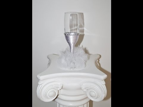 Diy wedding decorations – how to make a bride champagne glass