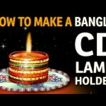 "How to make a DIYA HOLDER with bangles – ""Recycled Art and Craft Ideas"""