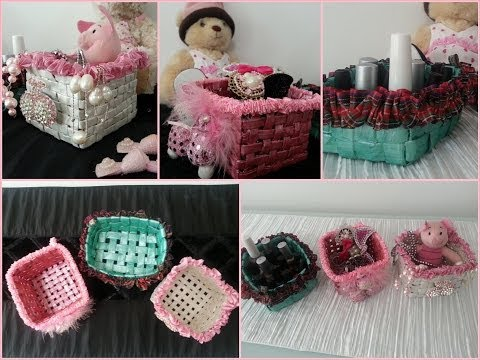 DIY Room Decoration /  Recycled Newspaper Into Basket