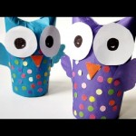 How To Make a Wonderful Recycled Tissue Paper Roll Owl – DIY Crafts Tutorial – Guidecentral