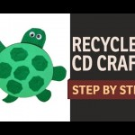 "How to make a CD Turtle WASTE CD Craft Ideas – "" Recycled Art and Craft Ideas"" (English)"