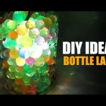 DIY Ideas – How to Make Bottle Lamp, Recycled Bottle Lamp, Room Decor Ideas, Home Decor Ideas,