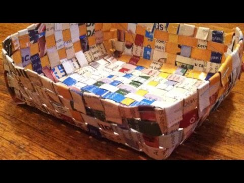 How To Make Cool Recycled Magazine Baskets – DIY Home Tutorial – Guidecentral