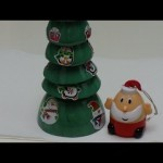 The Easiest Recycled Crafts for Kids: Santa's Christmas Tree out of Plastic Bottles