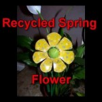 Recycled craft ideas: Recycled Spring Flower