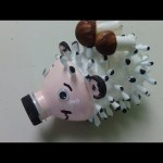 DIY Crafts: Cute Hedgehog out of Plastic Bottle