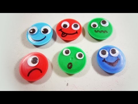 How to make silly recycled emoticon magnets – EP