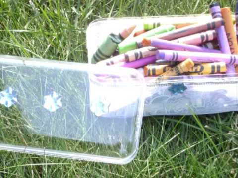 How to make  a cute crayon keeper box  from a recycled box – EP