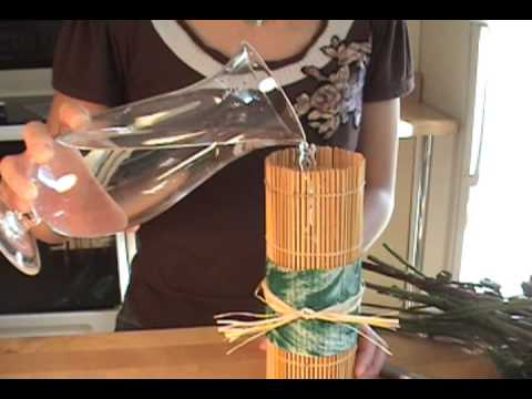 Sushi Roller Flower Vase *Recycled Craft Project*