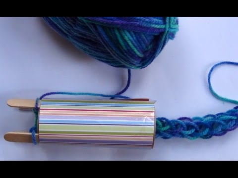 Recycled craft: How to make a french knitting machine