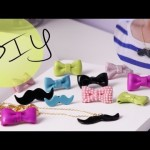 Diy Extras: How to Make a Lovable Bow Ring & Mustache Necklace