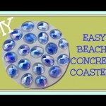 DIY EASY Beachy Concrete Coasters   Another Coaster Friday Craft Klatch Concrete Crafting Series