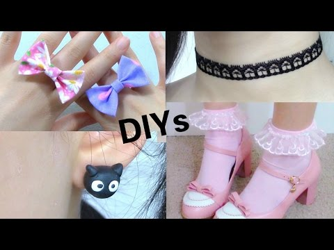 Back again to Faculty: 4 Diy Adorable Add-ons | Diy Cat Earings | Frilly Socks |  Bow Ring | Choker