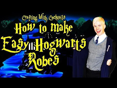 DIY Harry Potter Robes PART 1 – Crafting With Cocktails (3.12)