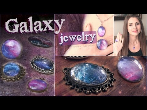 Diy Galaxy Necklace & Ring Pendants // Nail Polish Jewellery How To