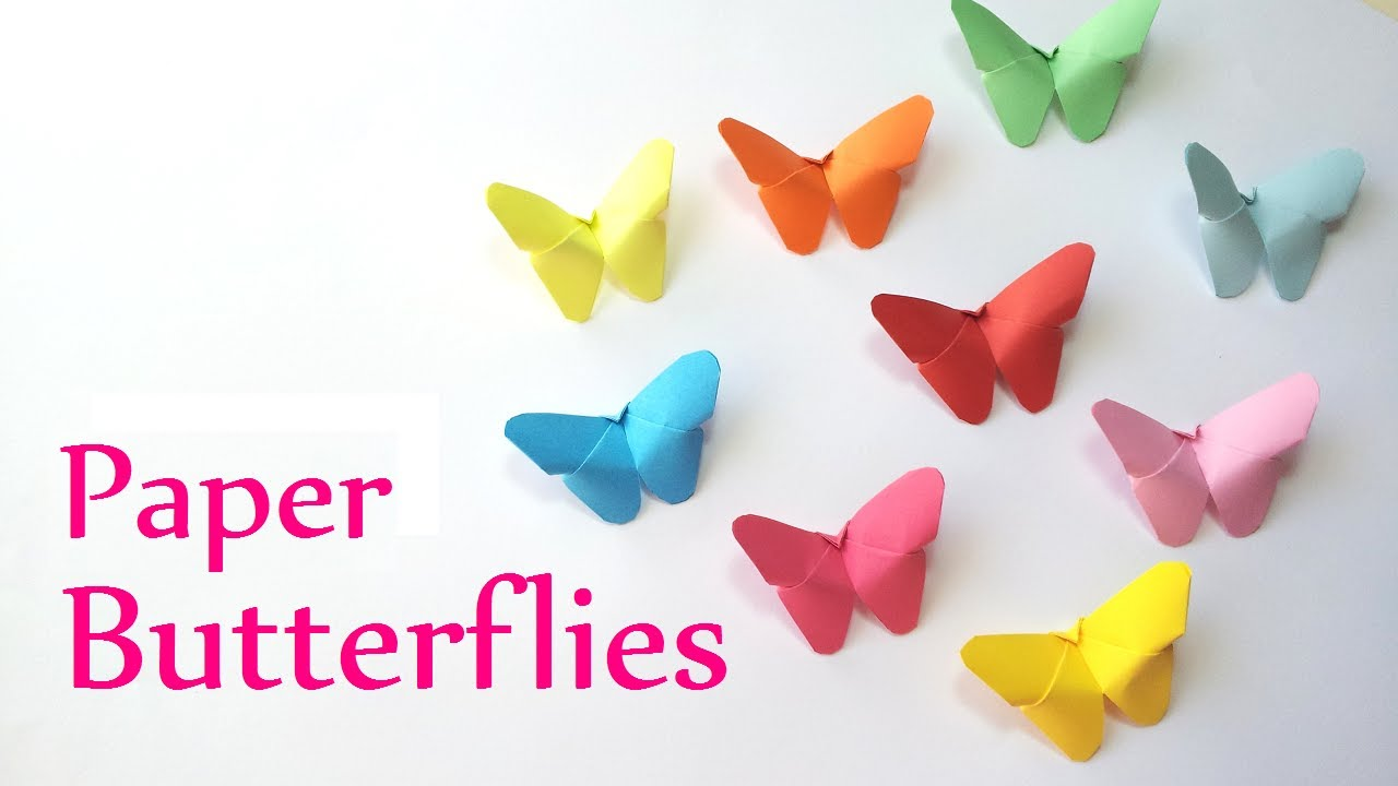 DIY crafts: Paper BUTTERFLIES (very EASY) – Innova Crafts