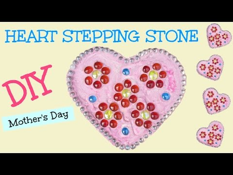 DIY Easy Mother's Day Heart Stepping Stone   Craft Klatch Concrete Crafting Series