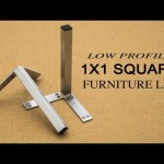 Reduced Profile Square Furniture Leg | Do it yourself Furniture Feet