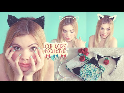 three Diy Cat Ears Headbands ♡ (Ariana Grande Influenced!)