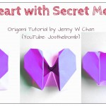 DIY Origami Heart Box / Envelope, Secret Message – Valentine's Day Crafts- Pop-Up Heart – Kids,Easy