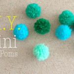 How to Make Mini Yarn Pom Poms Easy DIY