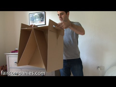 Diy cardboard furnishings with totally free IKEA-type directions