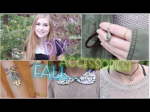 Diy Tumble Equipment ♡ Peter Pan Collar, Midi Rings & Choker!