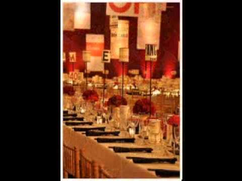 Do it yourself Slide wedding ceremony centerpiece decorating suggestions