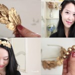 Do-it-yourself Hair Equipment ♥ Gold Leaf Headband and Hair Clips