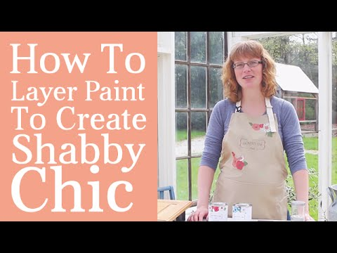 How To Layer Paint To Make Shabby Chic Home furniture | Do it yourself Tutorial