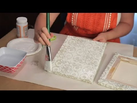 DIY Tissue Paper Art Canvas : Crafting Techniques
