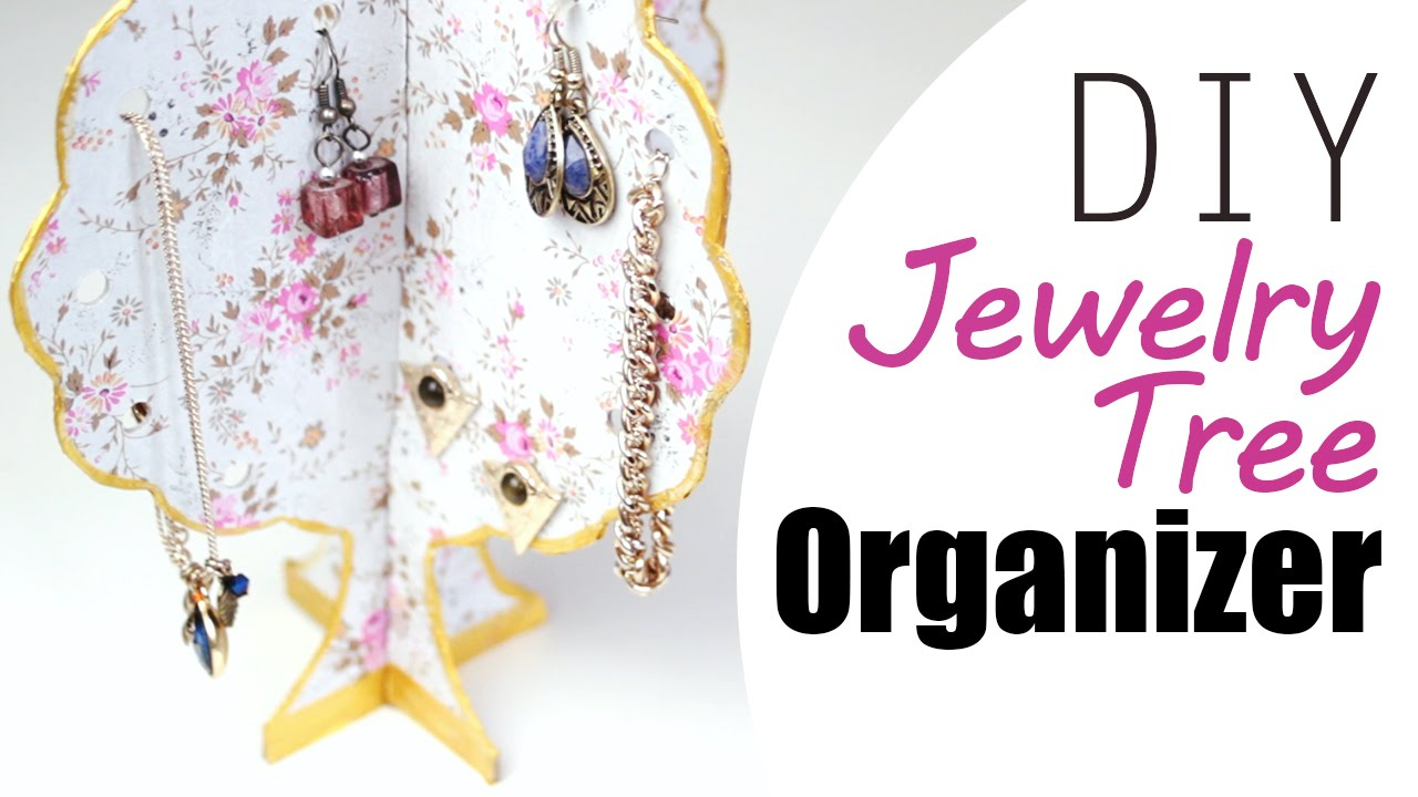Diy: Quick Jewellery Organizer Tree for your Equipment