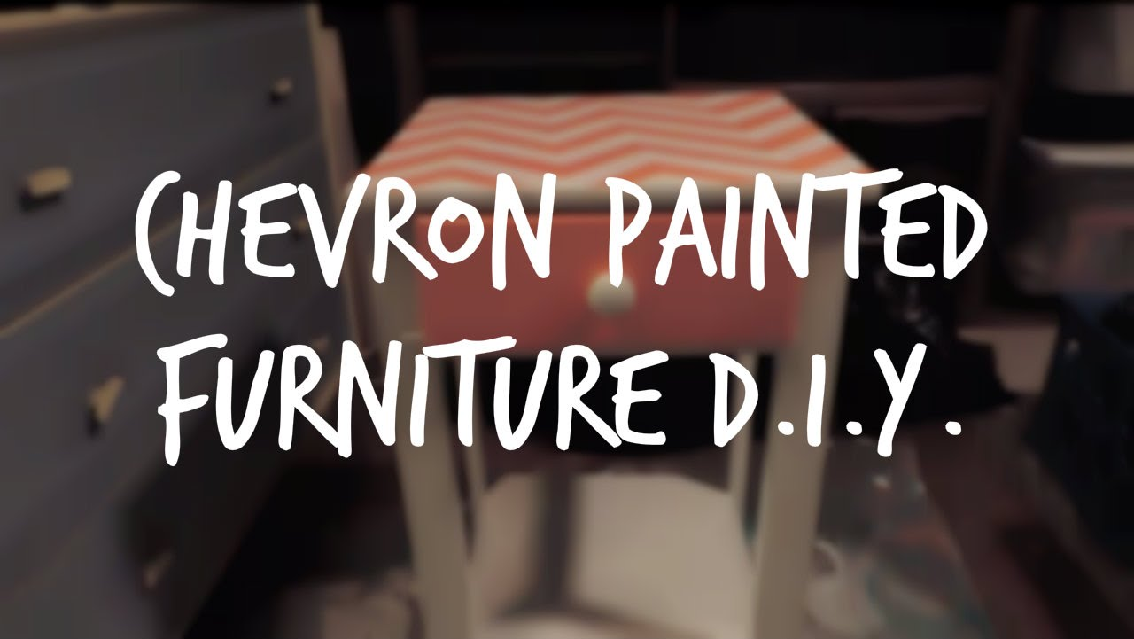 D.I.Y. CHEVRON PAINTED Home furnishings