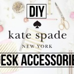 Do it yourself Kate Spade Influenced Desk Components | DaynnnsDIY