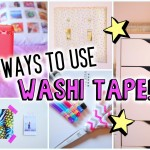 nine Ways To Use Washi Tape!