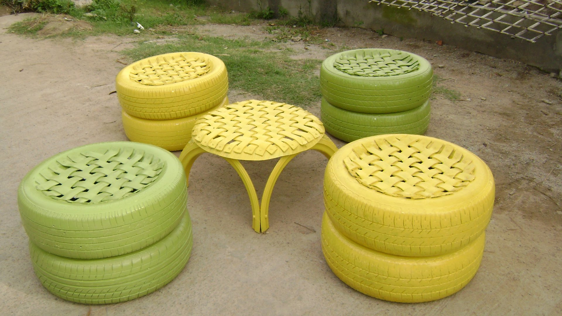 Recycled Tyre Furniture
