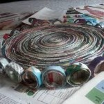 DIY Newspaper Crafts / Basket, Jewelry Box, Flower & Pen Holder
