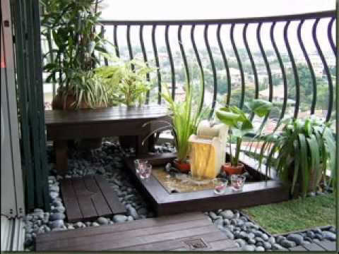 Do-it-yourself Balcony back garden decorations suggestions