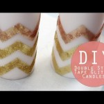 DIY Glitter Candles | Holiday Crafting