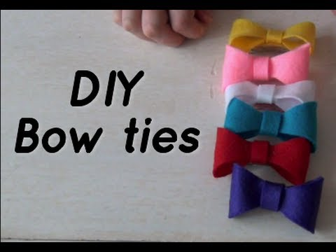 DIY Cute Bow Ties – Hair Accessories