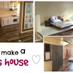 DIY: modern barbie doll house (recycled cardboard box) & diy furniture