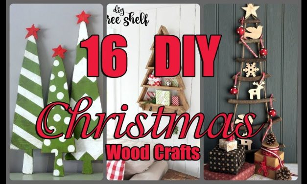 16  DIY Christmas Wood Crafts