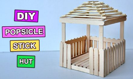 Popsicle Stick Crafts – Miniature Relaxing Hut #3
