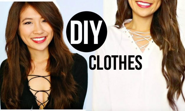 DIY Lace Up Tops | Easy Tumblr Clothing