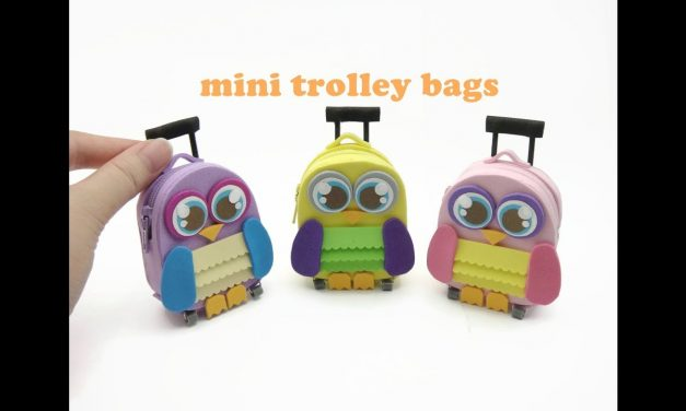 DIY Doll Accessories Mini Trolley School Bag with Zipper – Back to School!