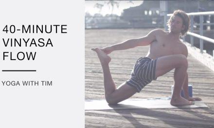 Yoga Flow 40 Minute Class with Core Strength, Hip openers, and Handstands – Tim Senesi